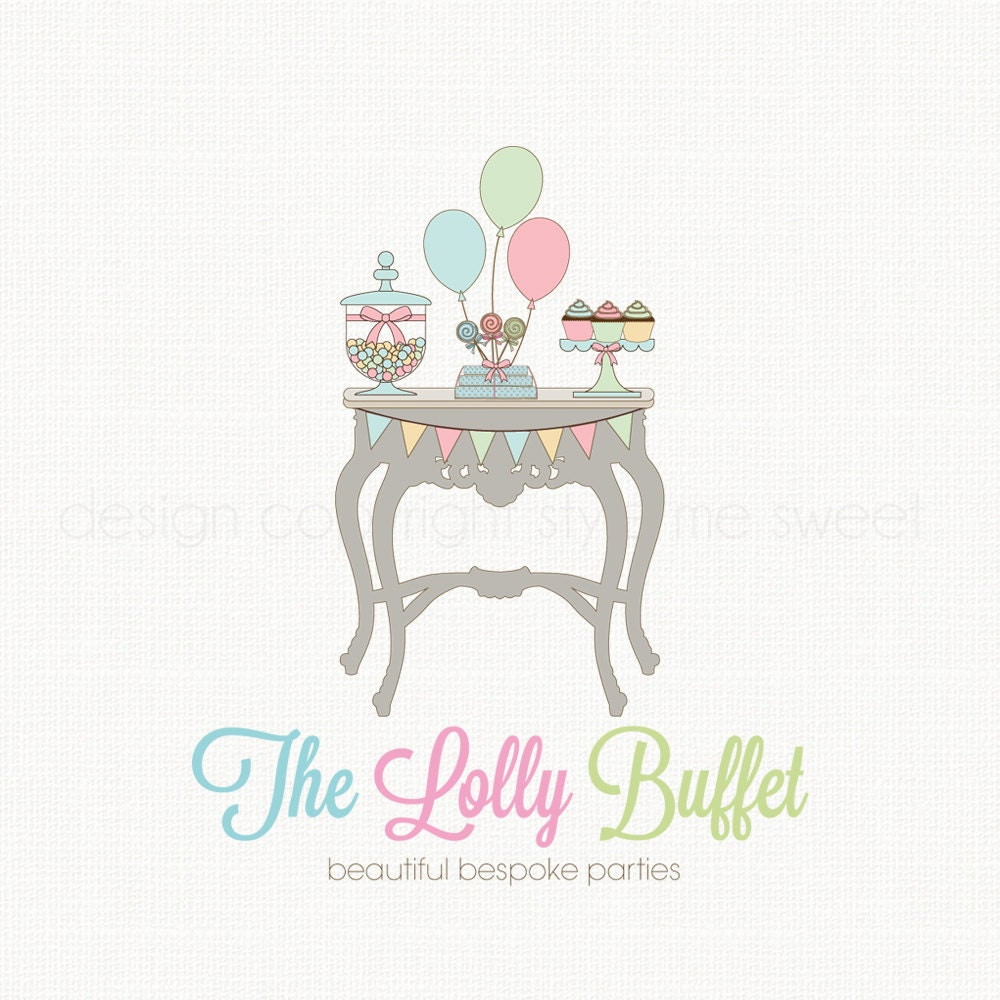 party boutique logo premade logo design candy logo design