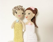 Lesbian Wedding Cake Topper, Bride and Bride Cake Topper, LGBT cake topper, Same Sex Cake Topper