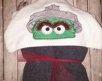 Custom Grouch Hooded Towel
