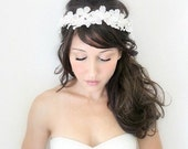 Bridal Headband, Rustic Wedding, Flower Adornment, Bridal Headpiece, Wedding headpiece, Flower Head Wreath, Floral Crown, hair flower