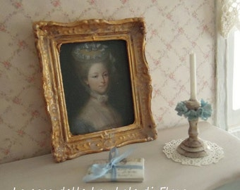 French portrait of a Lady - 1:12 dolls house dollhouse miniature