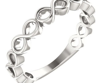 Infinity Stackable Ring In Sterling Silver