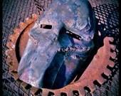 Hand Forged Steel Sculpture, Frankenstein Mask, Death Race