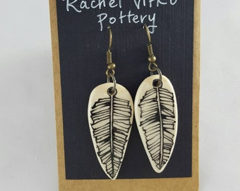 Fishbone Feather earrings
