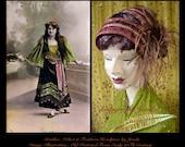 Fascinator Headband,1920s Feather Headband,Feather Headpiece,Feather Headband,1920s Headpiece,Flapper Headband,Fascinator Feather