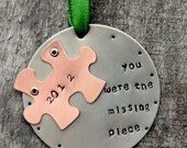 SALE Ornament Puzzle Piece - Ornament - Christmas Ornament -Adoption- Holiday Decor -  Surrogate - Ornament- Wife Husband-Anniversary-Adopt