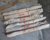 vintage French unused lace coupons  set of 6