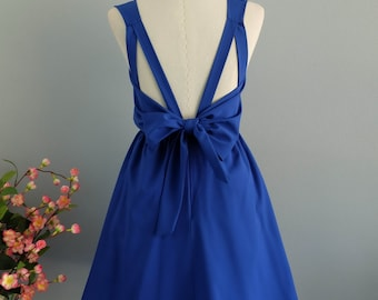 Royal blue dress blue party dress blue prom dress blue cocktail dress backless dress royal blue bridesmaid dresses blue night dress