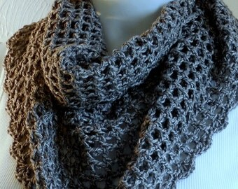 Charcoal denim cotton cowl
