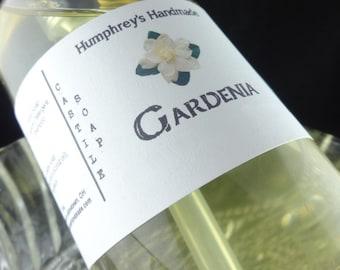 GARDENIA Body Wash, 8 oz, Women's Gardenia Soap Scented Organic Castile Soap, Shampoo Hand Soap, Spring Floral Garden