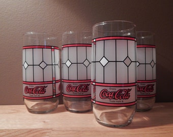 Vintage Coca~Cola Glasses Set of Four