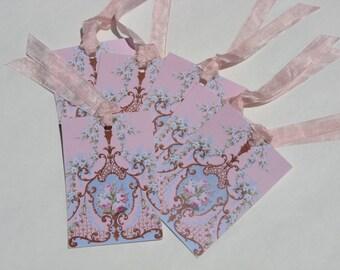 Victorian Rose Hang Tags Set of 6