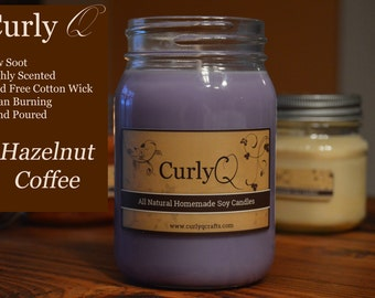 Hazelnut Coffee 16oz Soy Candle
