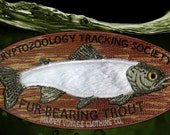 Cryptozoology Tracking Society: Mounted Fur-Bearing Trout Patch