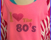 I heart the 80s t shirt slouchy off shoulder tee love the 80s shirt off shoulder cut off t 80s off shoulder neon 80s party 80s halloween cos