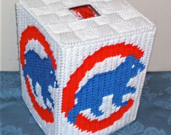 Cubs Tissue Box Cover Plastic Canvas Pattern