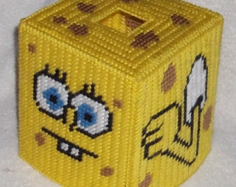 Sponge Bob Tissue Box Cover Plastic Canvas Pattern