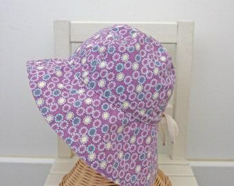 Girls Cotton Summer Hat Sun Hat Violet