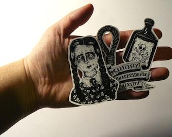 Stickers // Wednesday Addams