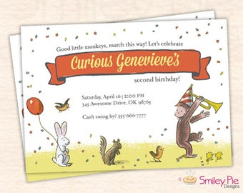 Curious George Invitation – Vintage