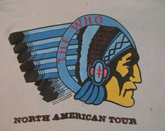 THE WHO 1976 tour T SHIRT