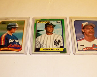 3 Assorted Vintage Star Rookie Baseball Cards-lot 9