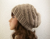 Knit hat - taupe brown beanie - Women's accessories Winter Fashion handmade gift for her Sandy Coastal Designs ready to ship