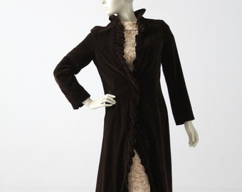 1950s velvet opera coat by Miss Bergdorf