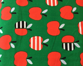 Small world Green apples, by made by Rae for Cloud 9 fabrics 1/2 yard  21 Wales Corduroy