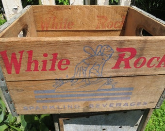 Vintage White Rock Soda Pop Crate.