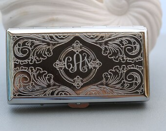 Custom Engraved Personalized  Cigarette Case