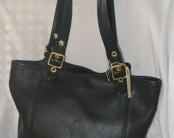 On Sale Coach Bag~ Coach~ Leather Bag~Black Shopper Bag ~Coach 9090 Handbag~