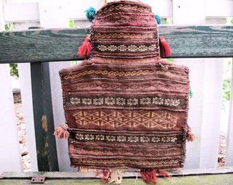 Salt Bag: Central Asian Tribal Weaving