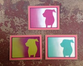 ARF Stencil Card Set With Black And Red Trim.