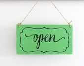 Business Sign, Hanging Open Sign, Closed Sign, Custom Sign, Store Sign, Wall Art, Wood Sign