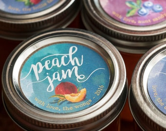 Custom Watercolor Jam/Jelly Labels for Mason Jars - Print Your Own