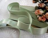 "3/4"" wide Mint Green pastel plush back lingerie satin elastic / stretch satin ribbon"