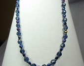Dark, midnight blue necklace