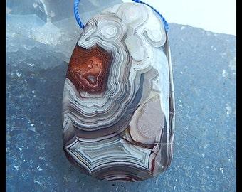 Crazy Lace Agate Pendant Bead,Natural Freeform Pendant,42x26x7mm,14.32g