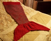 Ohio State Blanket Buckeyes Mermaid Handmade Crocheted