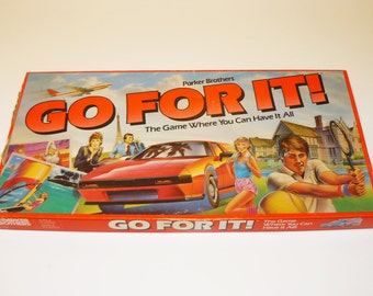 Vintage 1980s Go For It Board Game – Complete / Never Played – Parker Brothers – You Can Have It All