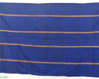 Adinkra Stamped Cloth Asante Ghana Large 10 x 6 Feet African Art 92782