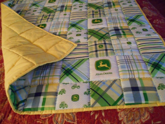 Handmade Toddler Bed Or Baby Crib Size Quilt Comforter