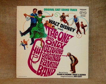 Walt Disney'S - The One and Only Genuine Original Family Band - 1968 Vintage Vinyl Gatefold Record Album.Inc Insert Booklet