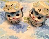 Vintage 59's Adorable Lefton Japan Cat 1511 Salt and Pepper Shaker Set