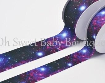 "Cosmic Galaxy 1.5"" Grosgrain US Designer Ribbon"