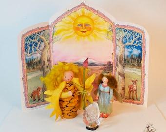 Lady of the Sun Seasonal Backdrop
