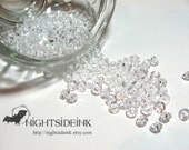 6mm Acrylic Clear Rondelle Saucer Beads Vintage 100pcs DESTASH