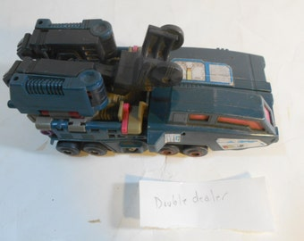 Vintage G1 Transformers DOUBLEDEALER Powermaster Decepticon Action Figure 1988