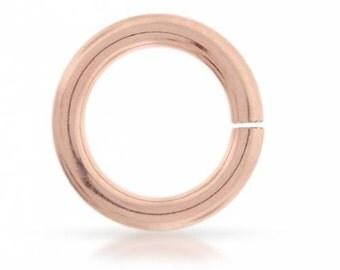 14Kt Rose Gold Filled 22ga 4mm Open Jump Rings  - 250pcs (4552)